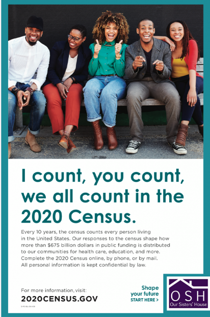 I Count, you count, we all count in the 2020 Census.